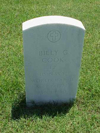 COOK (VETERAN WWII), BILLY G - Pulaski County, Arkansas | BILLY G COOK (VETERAN WWII) - Arkansas Gravestone Photos