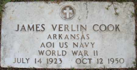 COOK (VETERAN WWII), JAMES VERLIN - Pulaski County, Arkansas | JAMES VERLIN COOK (VETERAN WWII) - Arkansas Gravestone Photos