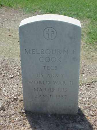 COOK (VETERAN WWII), MELBOURN F - Pulaski County, Arkansas | MELBOURN F COOK (VETERAN WWII) - Arkansas Gravestone Photos