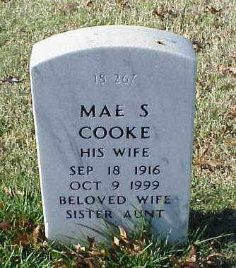 COOKE, MAE S - Pulaski County, Arkansas | MAE S COOKE - Arkansas Gravestone Photos