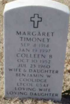 COOLIDGE, MARGARET TIMONEY - Pulaski County, Arkansas | MARGARET TIMONEY COOLIDGE - Arkansas Gravestone Photos