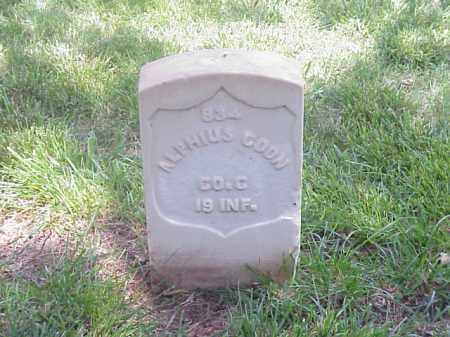 COON (VETERAN UNION), ALPHIUS - Pulaski County, Arkansas | ALPHIUS COON (VETERAN UNION) - Arkansas Gravestone Photos