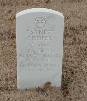 COOPER  (VETERAN WWI), EARNEST - Pulaski County, Arkansas | EARNEST COOPER  (VETERAN WWI) - Arkansas Gravestone Photos