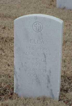 COOPER, ELLA - Pulaski County, Arkansas | ELLA COOPER - Arkansas Gravestone Photos