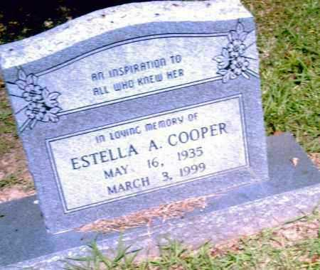 COOPER, ESTELLA A. - Pulaski County, Arkansas | ESTELLA A. COOPER - Arkansas Gravestone Photos