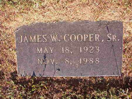 COOPER, SR, JAMES W - Pulaski County, Arkansas | JAMES W COOPER, SR - Arkansas Gravestone Photos