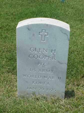 COOPER (VETERAN 2 WARS), GLEN H - Pulaski County, Arkansas   GLEN H COOPER (VETERAN 2 WARS) - Arkansas Gravestone Photos