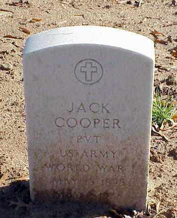 COOPER (VETERAN WWI), JACK - Pulaski County, Arkansas | JACK COOPER (VETERAN WWI) - Arkansas Gravestone Photos