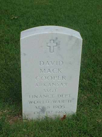 COOPER (VETERAN WWII), DAVID MACK - Pulaski County, Arkansas | DAVID MACK COOPER (VETERAN WWII) - Arkansas Gravestone Photos