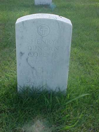 COPE, JR (VETERAN WWII), HENRY DUNCAN - Pulaski County, Arkansas | HENRY DUNCAN COPE, JR (VETERAN WWII) - Arkansas Gravestone Photos