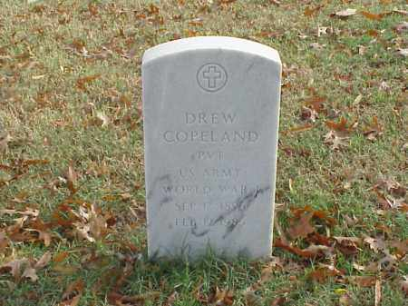 COPELAND (VETERAN WWI), DREW - Pulaski County, Arkansas | DREW COPELAND (VETERAN WWI) - Arkansas Gravestone Photos