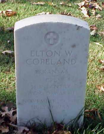 COPELAND (VETERAN WWII), ELTON W - Pulaski County, Arkansas | ELTON W COPELAND (VETERAN WWII) - Arkansas Gravestone Photos