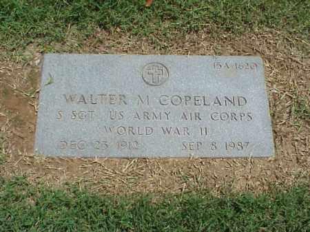 COPELAND (VETERAN WWII), WALTER M - Pulaski County, Arkansas | WALTER M COPELAND (VETERAN WWII) - Arkansas Gravestone Photos