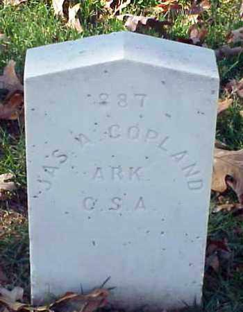 COPLAND (VETERAN CSA), JAMES A - Pulaski County, Arkansas | JAMES A COPLAND (VETERAN CSA) - Arkansas Gravestone Photos