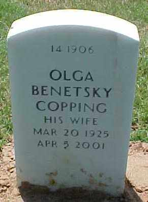 COPPING, OLGA - Pulaski County, Arkansas | OLGA COPPING - Arkansas Gravestone Photos
