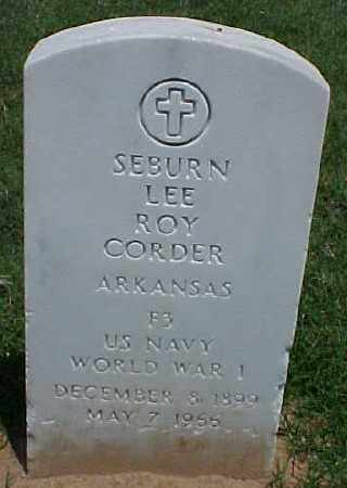 CORDER (VETERAN WWI), SEBURN LEE ROY - Pulaski County, Arkansas | SEBURN LEE ROY CORDER (VETERAN WWI) - Arkansas Gravestone Photos