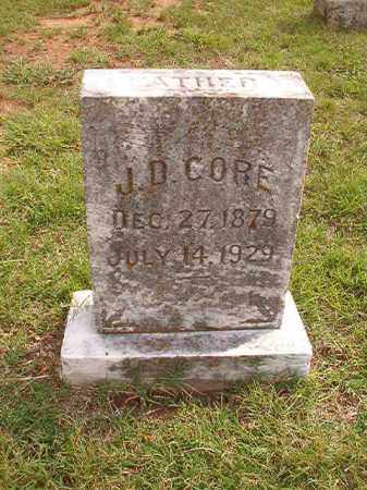 CORE, J D - Pulaski County, Arkansas | J D CORE - Arkansas Gravestone Photos