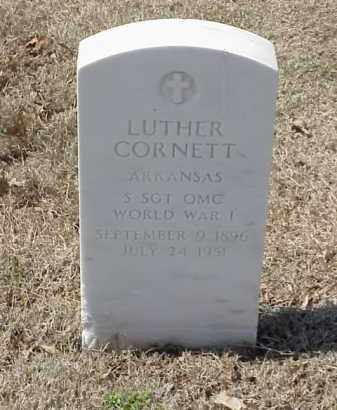 CORNETT  (VETERAN WWI), LUTHER - Pulaski County, Arkansas | LUTHER CORNETT  (VETERAN WWI) - Arkansas Gravestone Photos