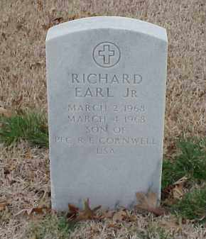 CORNWELL, JR, RICHARD EARL - Pulaski County, Arkansas | RICHARD EARL CORNWELL, JR - Arkansas Gravestone Photos