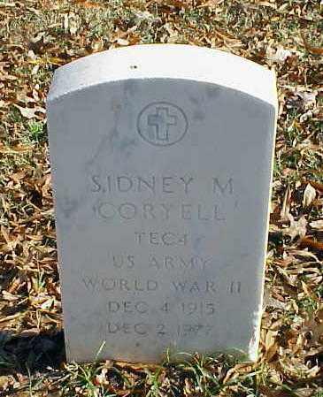CORYELL (VETERAN WWII), SIDNEY M - Pulaski County, Arkansas | SIDNEY M CORYELL (VETERAN WWII) - Arkansas Gravestone Photos