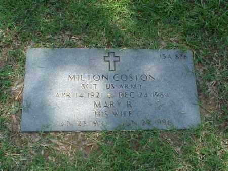 COSTON (VETERAN WWII), MILTON - Pulaski County, Arkansas | MILTON COSTON (VETERAN WWII) - Arkansas Gravestone Photos