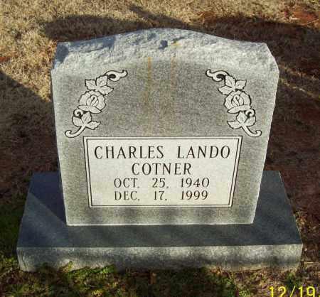 COTNER, CHARLES LANDO - Pulaski County, Arkansas | CHARLES LANDO COTNER - Arkansas Gravestone Photos