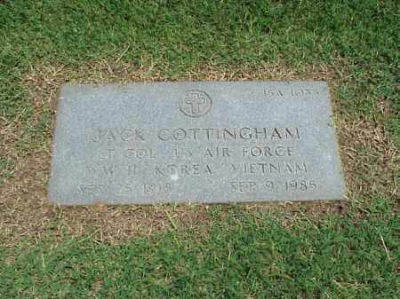 COTTINGHAM (VETERAN 3 WARS), JACK - Pulaski County, Arkansas | JACK COTTINGHAM (VETERAN 3 WARS) - Arkansas Gravestone Photos