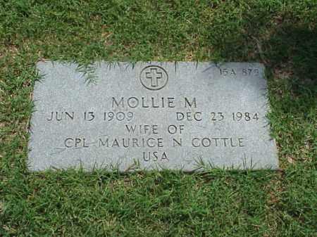 COTTLE, MOLLIE M - Pulaski County, Arkansas | MOLLIE M COTTLE - Arkansas Gravestone Photos
