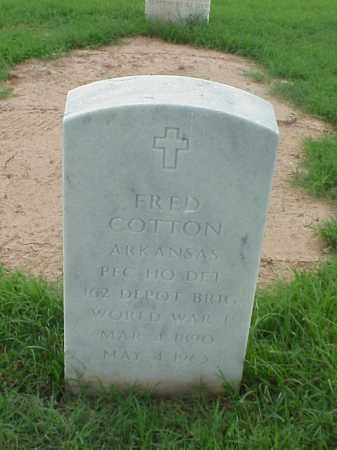 COTTON (VETERAN WWI), FRED - Pulaski County, Arkansas | FRED COTTON (VETERAN WWI) - Arkansas Gravestone Photos