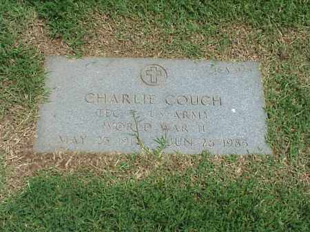 COUCH (VETERAN WWII), CHARLIE - Pulaski County, Arkansas | CHARLIE COUCH (VETERAN WWII) - Arkansas Gravestone Photos