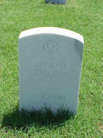 COULSON (VETERAN WWI), JOSEPH - Pulaski County, Arkansas | JOSEPH COULSON (VETERAN WWI) - Arkansas Gravestone Photos