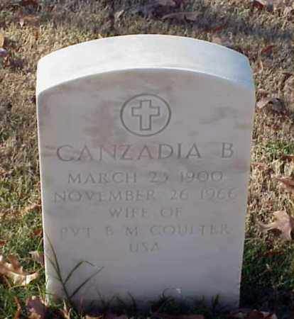 COULTER, CANZADIA B - Pulaski County, Arkansas | CANZADIA B COULTER - Arkansas Gravestone Photos