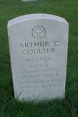 COULTER (VETERAN WWI), ARTHUR C - Pulaski County, Arkansas | ARTHUR C COULTER (VETERAN WWI) - Arkansas Gravestone Photos