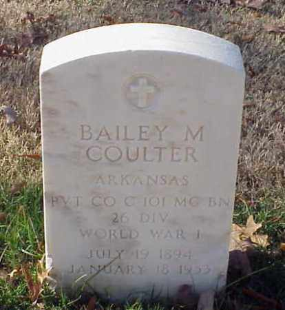 COULTER (VETERAN WWI), BAILEY M - Pulaski County, Arkansas | BAILEY M COULTER (VETERAN WWI) - Arkansas Gravestone Photos