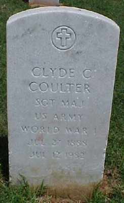 COULTER (VETERAN WWI), CLYDE C - Pulaski County, Arkansas | CLYDE C COULTER (VETERAN WWI) - Arkansas Gravestone Photos