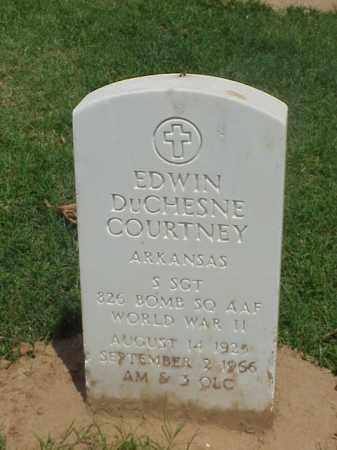 COURTNEY (VETERAN WWII), EDWIN DUCHESNE - Pulaski County, Arkansas | EDWIN DUCHESNE COURTNEY (VETERAN WWII) - Arkansas Gravestone Photos