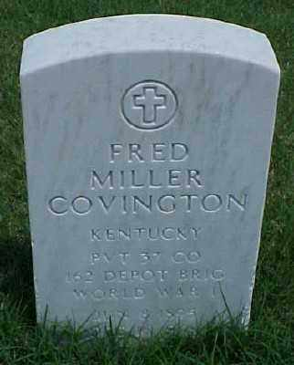 COVINGTON (VETERAN WWI), FRED MILLER - Pulaski County, Arkansas | FRED MILLER COVINGTON (VETERAN WWI) - Arkansas Gravestone Photos