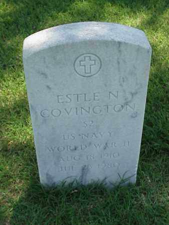 COVINGTON (VETERAN WWII), ESTLE N - Pulaski County, Arkansas | ESTLE N COVINGTON (VETERAN WWII) - Arkansas Gravestone Photos