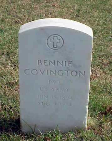 COVINGTON (VETERAN WWI), BENNIE - Pulaski County, Arkansas | BENNIE COVINGTON (VETERAN WWI) - Arkansas Gravestone Photos