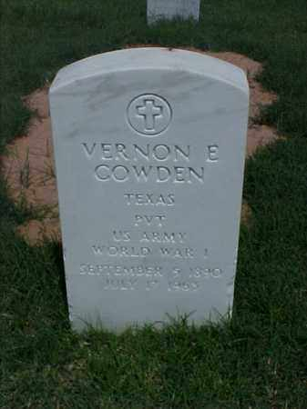 COWDEN (VETERAN WWI), VERNON E - Pulaski County, Arkansas | VERNON E COWDEN (VETERAN WWI) - Arkansas Gravestone Photos
