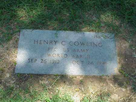 COWLING (VETERAN WWII), HENRY C - Pulaski County, Arkansas | HENRY C COWLING (VETERAN WWII) - Arkansas Gravestone Photos