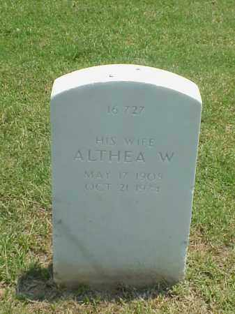 COX, ALTHEA W. - Pulaski County, Arkansas | ALTHEA W. COX - Arkansas Gravestone Photos