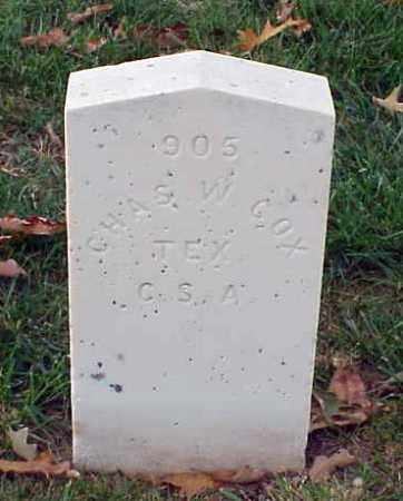 COX (VETERAN CSA), CHARLES W - Pulaski County, Arkansas | CHARLES W COX (VETERAN CSA) - Arkansas Gravestone Photos