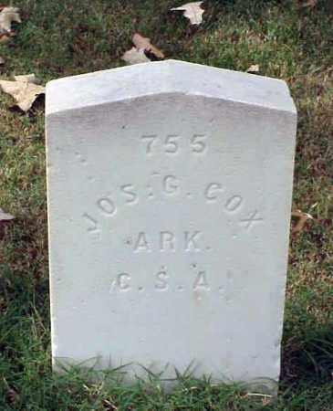 COX (VETERAN CSA), JOSEPH G - Pulaski County, Arkansas | JOSEPH G COX (VETERAN CSA) - Arkansas Gravestone Photos