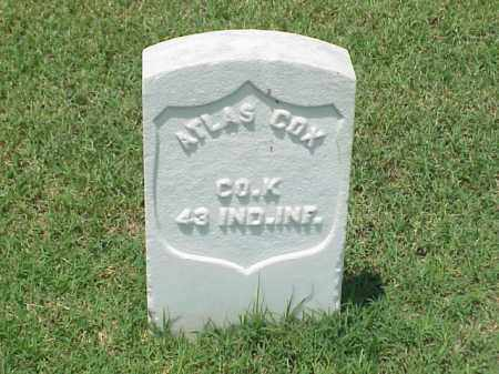 COX (VETERAN UNION), ATLAS - Pulaski County, Arkansas | ATLAS COX (VETERAN UNION) - Arkansas Gravestone Photos