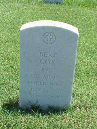 COX (VETERAN WWI), BERT - Pulaski County, Arkansas | BERT COX (VETERAN WWI) - Arkansas Gravestone Photos
