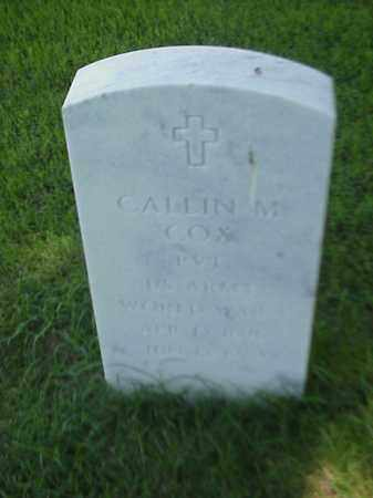 COX (VETERAN WWI), CALLIN M - Pulaski County, Arkansas | CALLIN M COX (VETERAN WWI) - Arkansas Gravestone Photos