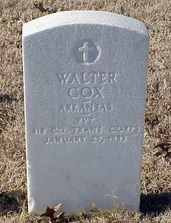 COX (VETERAN WWI), WALTER - Pulaski County, Arkansas | WALTER COX (VETERAN WWI) - Arkansas Gravestone Photos