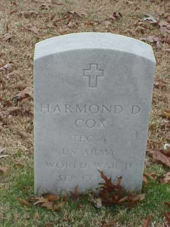 COX (VETERAN WWII), HARMOND D - Pulaski County, Arkansas | HARMOND D COX (VETERAN WWII) - Arkansas Gravestone Photos