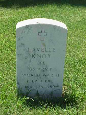 KNOX (VETERAN WWII), LAVELLE - Pulaski County, Arkansas | LAVELLE KNOX (VETERAN WWII) - Arkansas Gravestone Photos